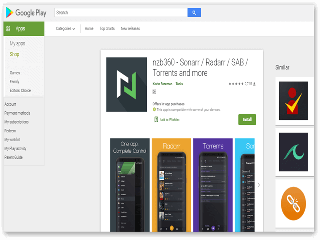 Nzb360 Google Play