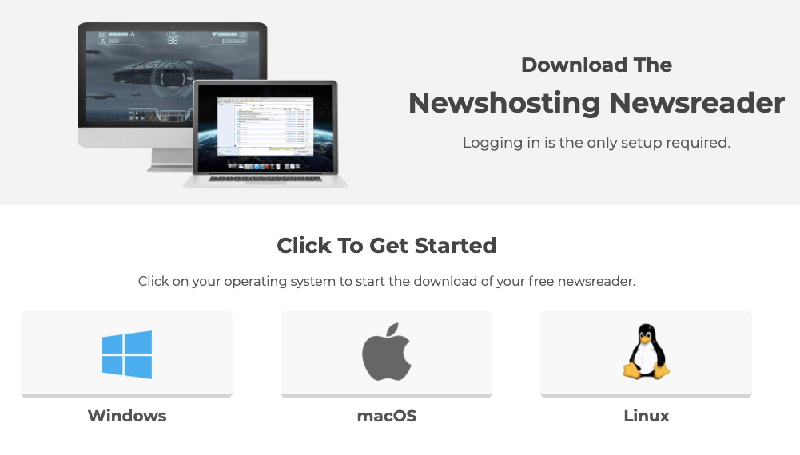 Newshosting Newsreader Get Started