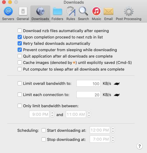 Nzbdrop Download Settings