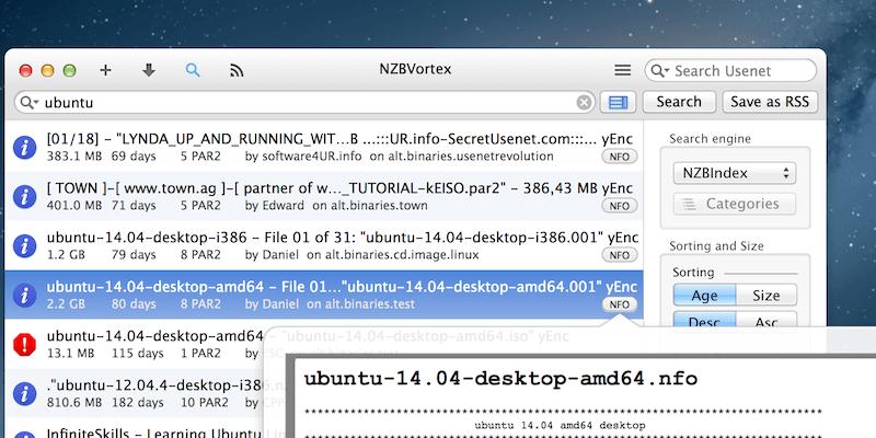 Nzbvortex Integrated Search Engine