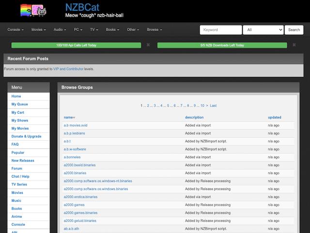 Nzbcat Browse Groups