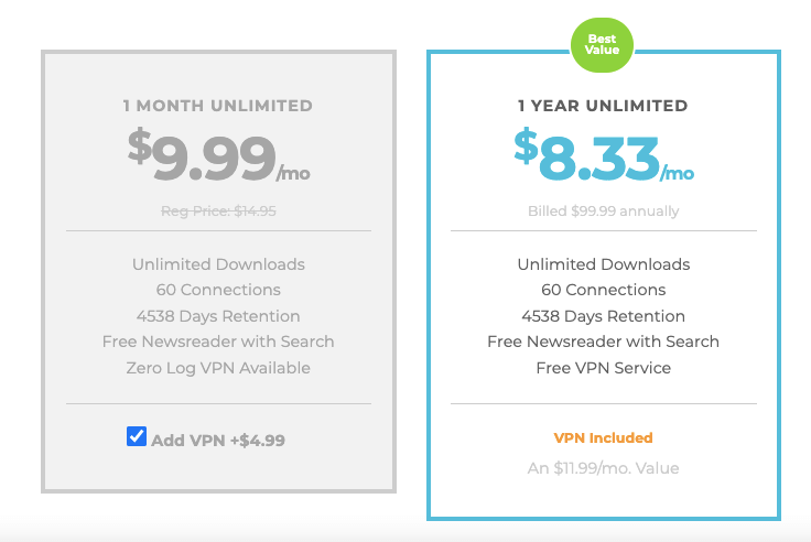 Newshosting Lifetime Discount Pricing