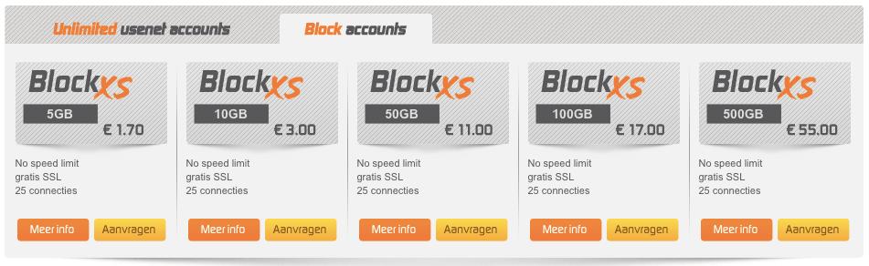 Newsxs Block Pricing