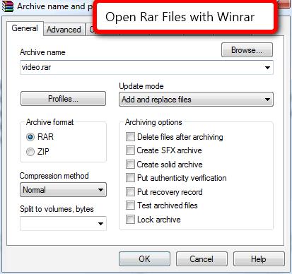 Winrar to Open Rar Files